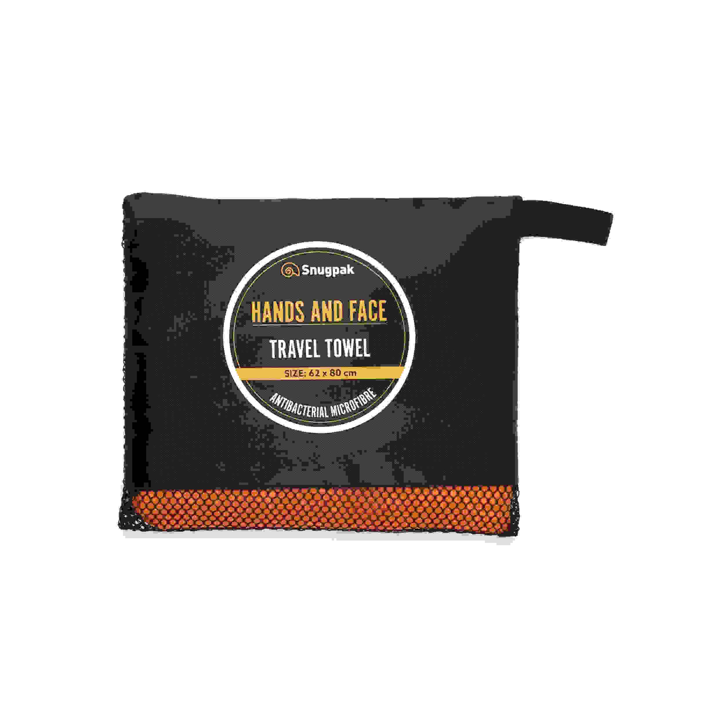 Snugpak Travel Towel Hands and Face Orange