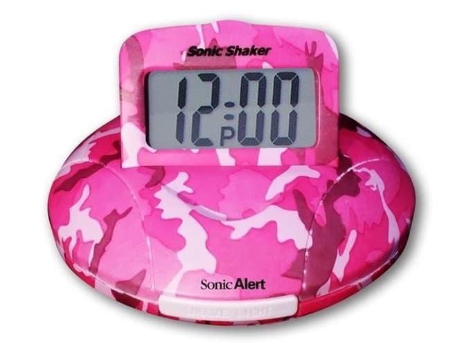 Sonic Boom Alarm Clock in Pink Camo