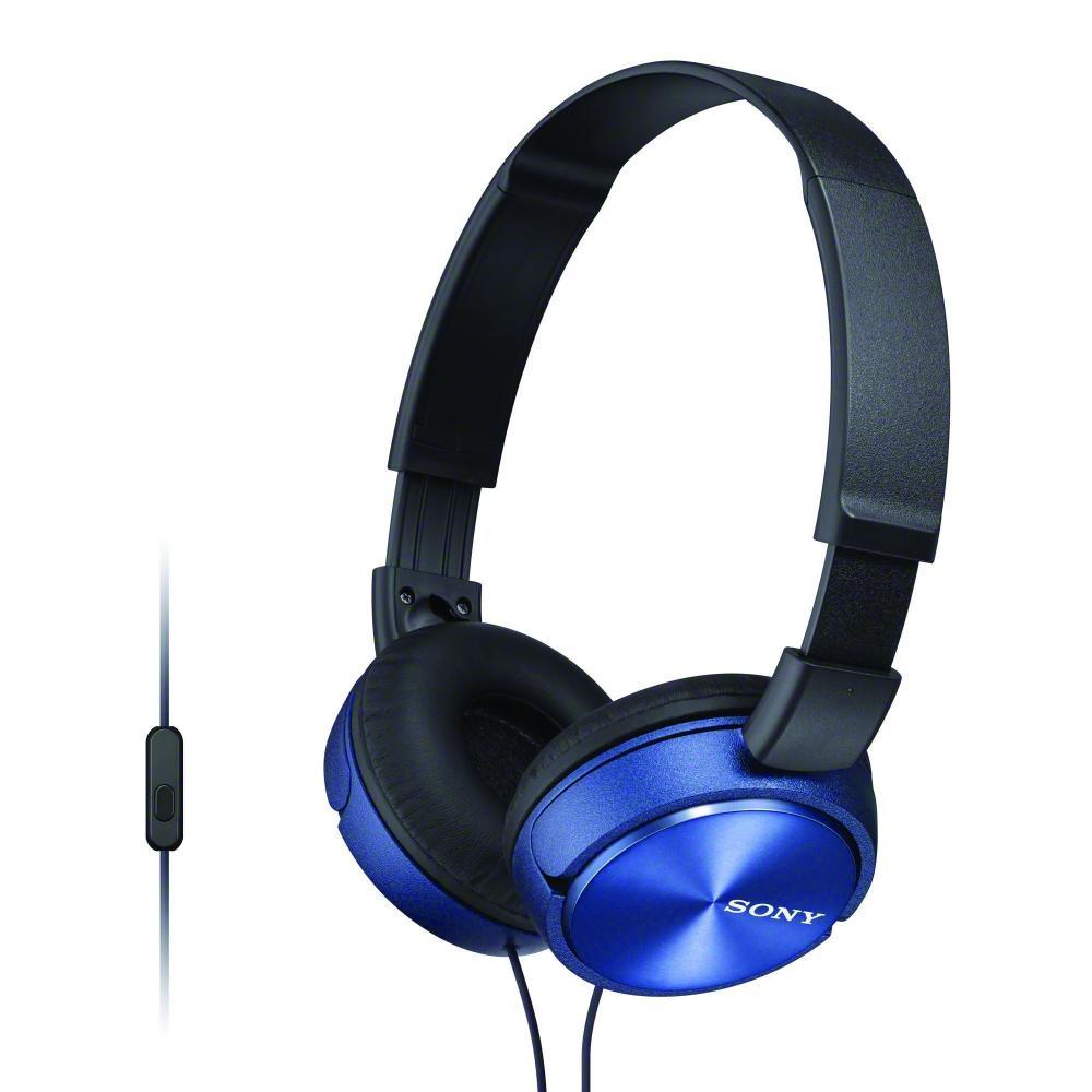 SONY HEADBAND STEREO HEADSET, BLUE