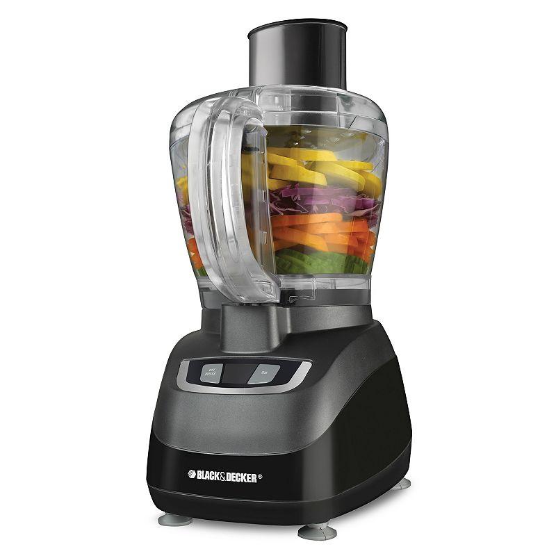 Black+Decker 8-Cup Food Processor, Black