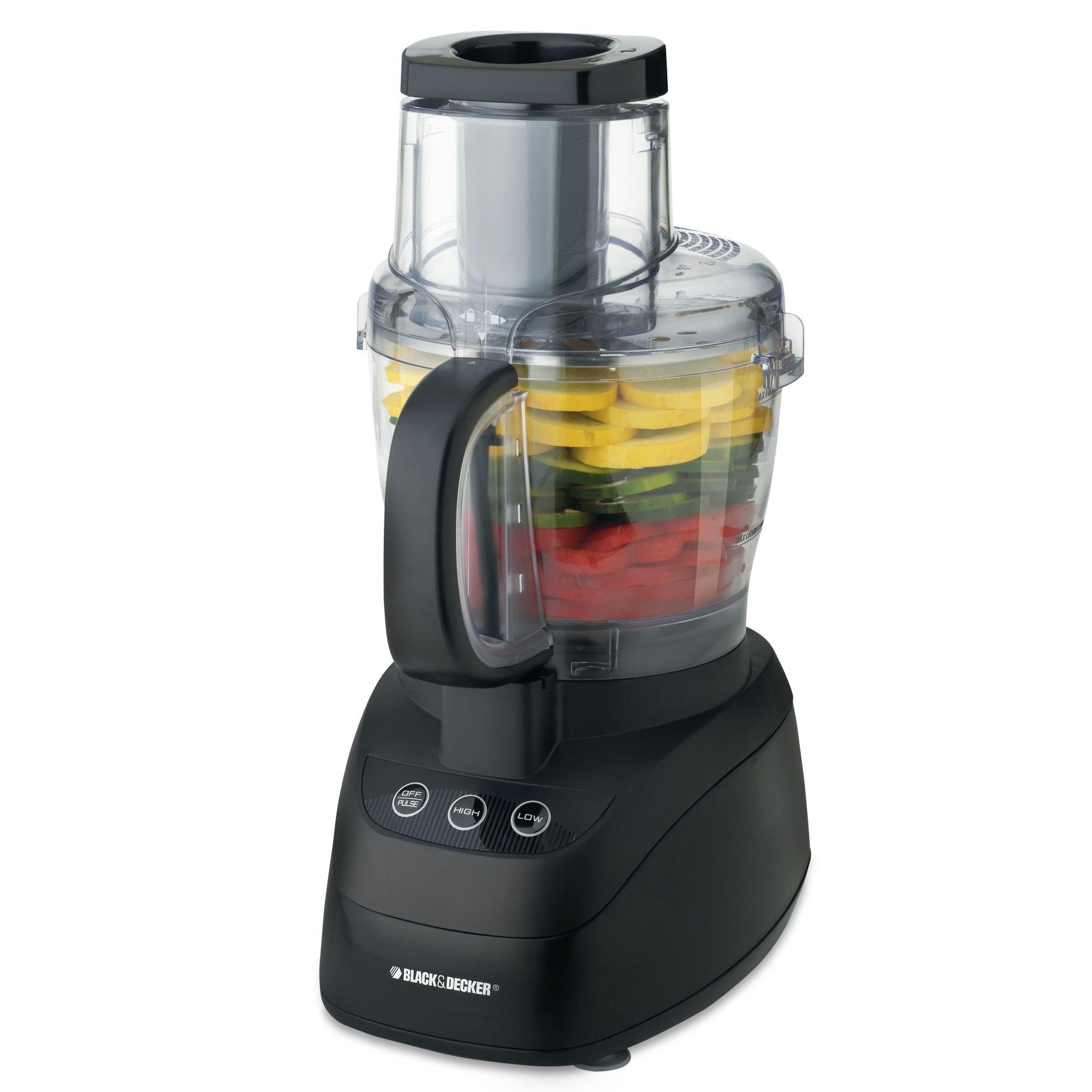 Black Decker WideMouth 10 cup Food Processor Black