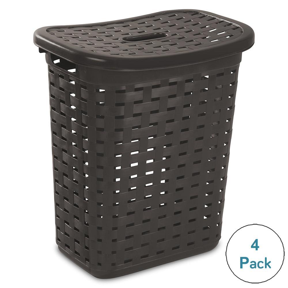 Sterilite Weave Laundry Hamper - Espresso, 4-Pack