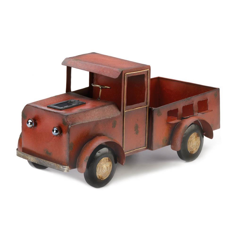 Red Truck Solar Light Planter
