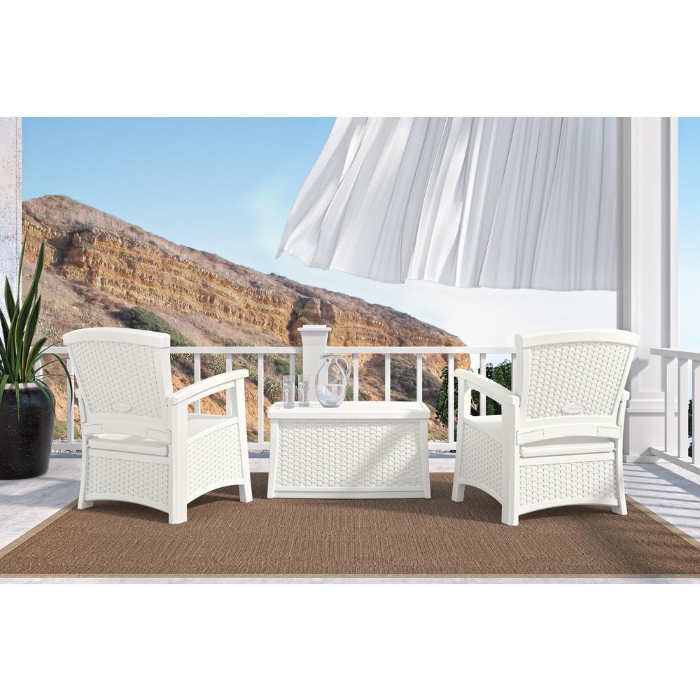 3pc Essentials Patio  Set  - White