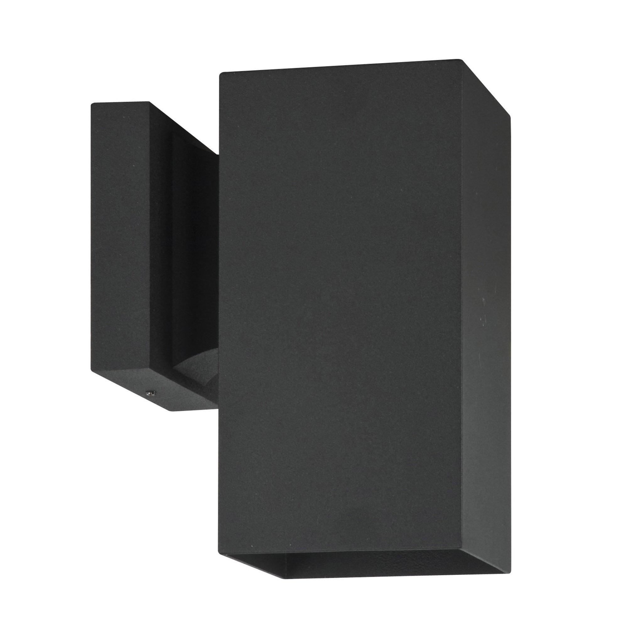 Sunset Lighting Square One Light Exterior - Aluminum Sconce, With Black Finish