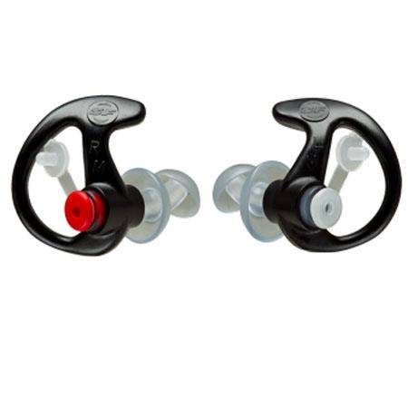 SureFire Double Flanged Filtered Earplugs Med 25 Pair Black