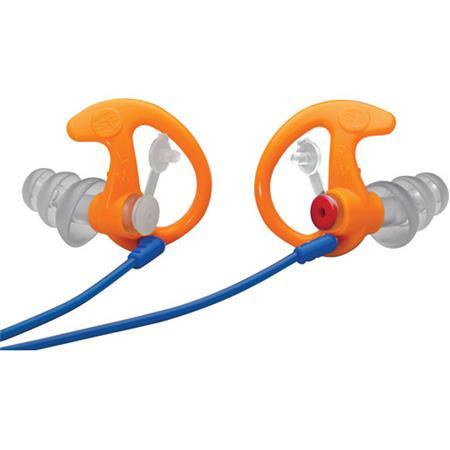 SureFire Triple Flanged Filtered Earplugs Med 1 Pair Clear