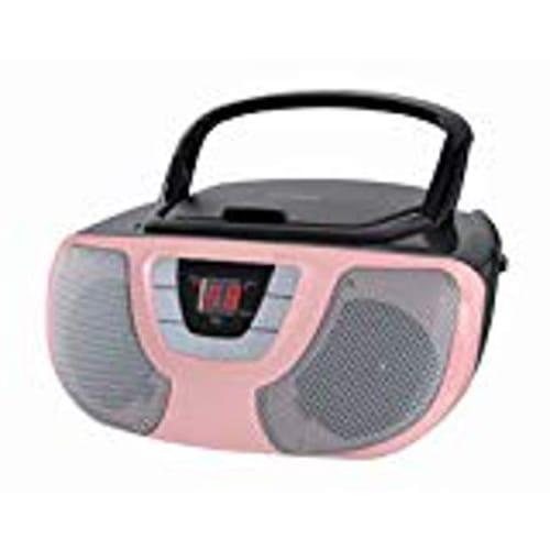 Sylvania Portable CD Boom Box with AM/FM Radio (Pink)