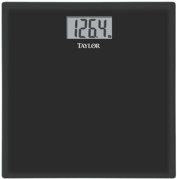 Taylor 75584192B Digital Electronic Scale, 400 lb, 3.1 in L x 1.6 in W, LCD