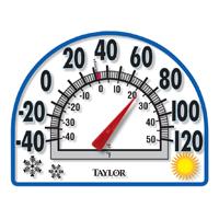 Taylor 91157 4-Season Easy-To-Read Analog Thermometer, -40 TO 120 deg F