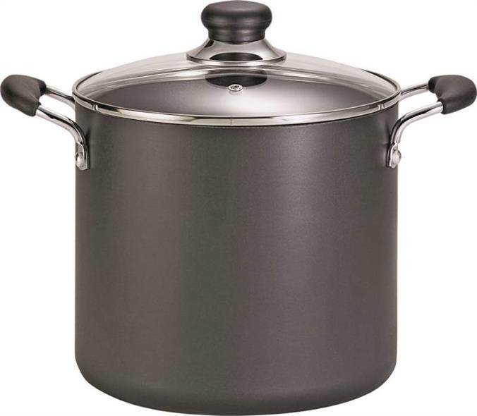 T-Fal A9228064 Non-Stick Stock Pot, 12 qt Capacity, Aluminum