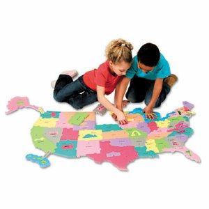 Wonderfoam Giant U.S.A Puzzle Map, 73 Pieces
