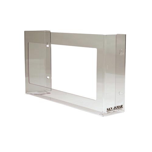 Clear Plexiglas Disposable Glove Dispenser, Three-Box, 18w x 3 3/4d x 10h