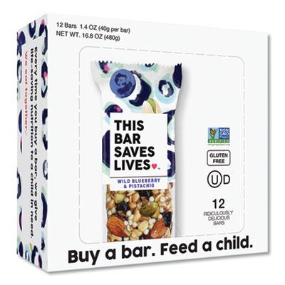 Snackbars, Wild Blueberry and Pistachio, 1.4 oz, 12/Box