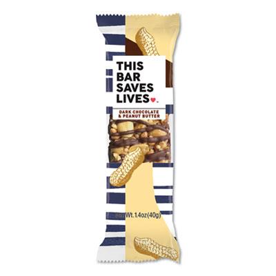 Snackbars, Dark Chocolate and Peanut Butter, 1.4 oz, 12/Box