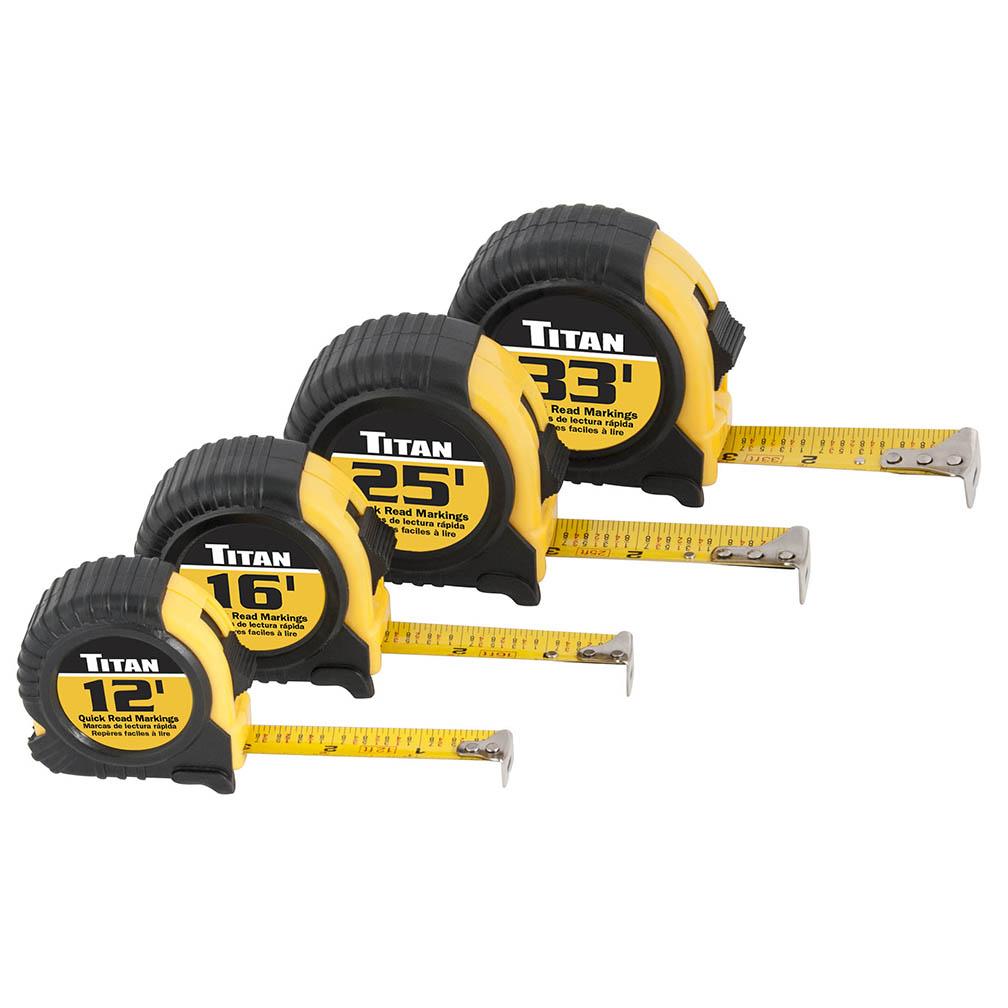 Titan Tool 4 pc Tape Measure Set