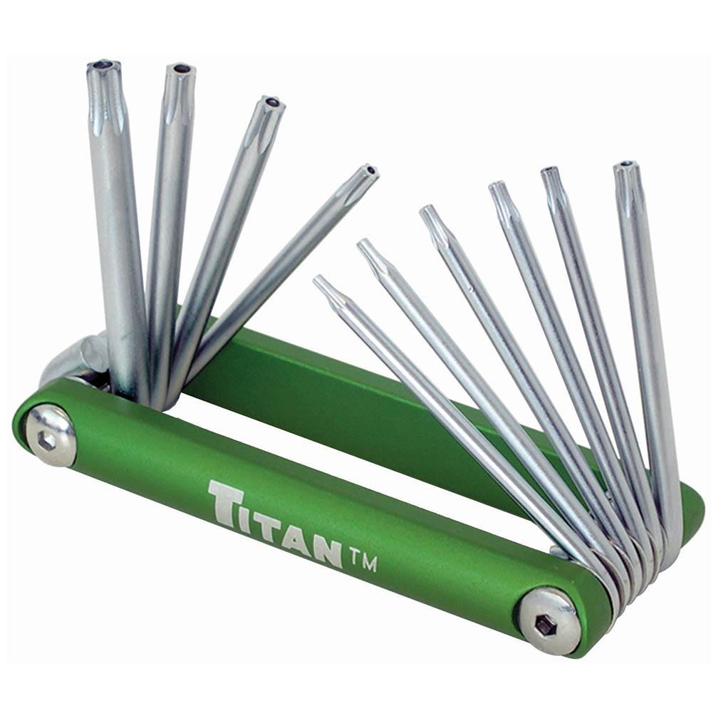 Titan Tool 10 pc Tamper Resistant Folding Star Key Set