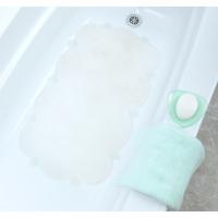 MAT BATH CLOUD CLR W/MICROBAN