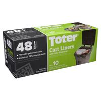 LINER TRASH CAN BLACK 32-48GAL