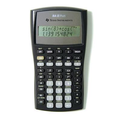 TI BA II Plus Calculator Slide Case