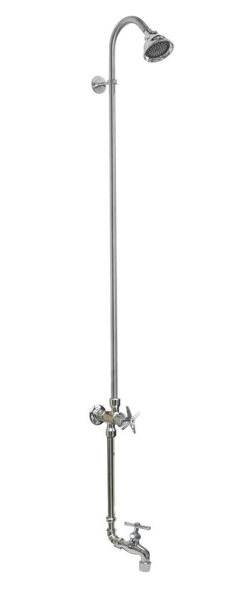 WM-442-CHV-HB Wall Mount Single Supply Shower with Hose Bibb