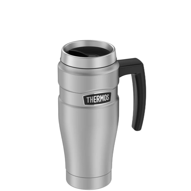 Thermos 16 oz. Stainless Steel Travel Mug Silver