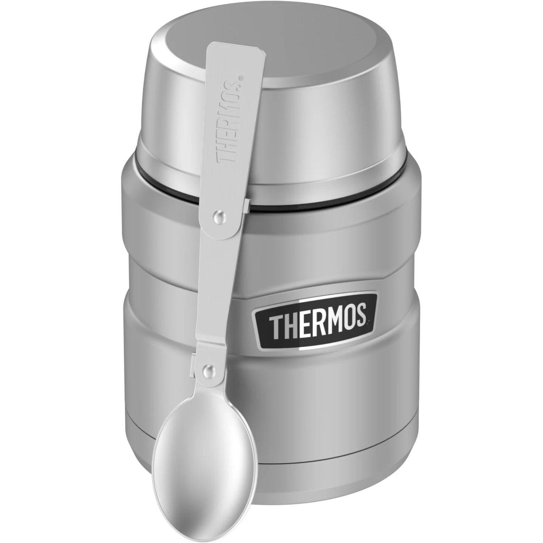 Thermos 16oz Stainless Steel Food Jar w Folding Spoon Silver