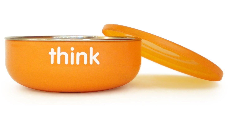 Thinkbaby BPA Free Ceral Bowl Orange Count