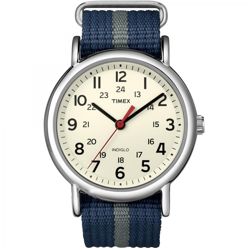 Timex Weekender® Slip-Thru Watch - Navy/Grey