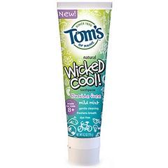 Tom's Of Maine Wicked Cool Mild Mint Kid's Toothpaste Flouride Free(6x42 Oz)