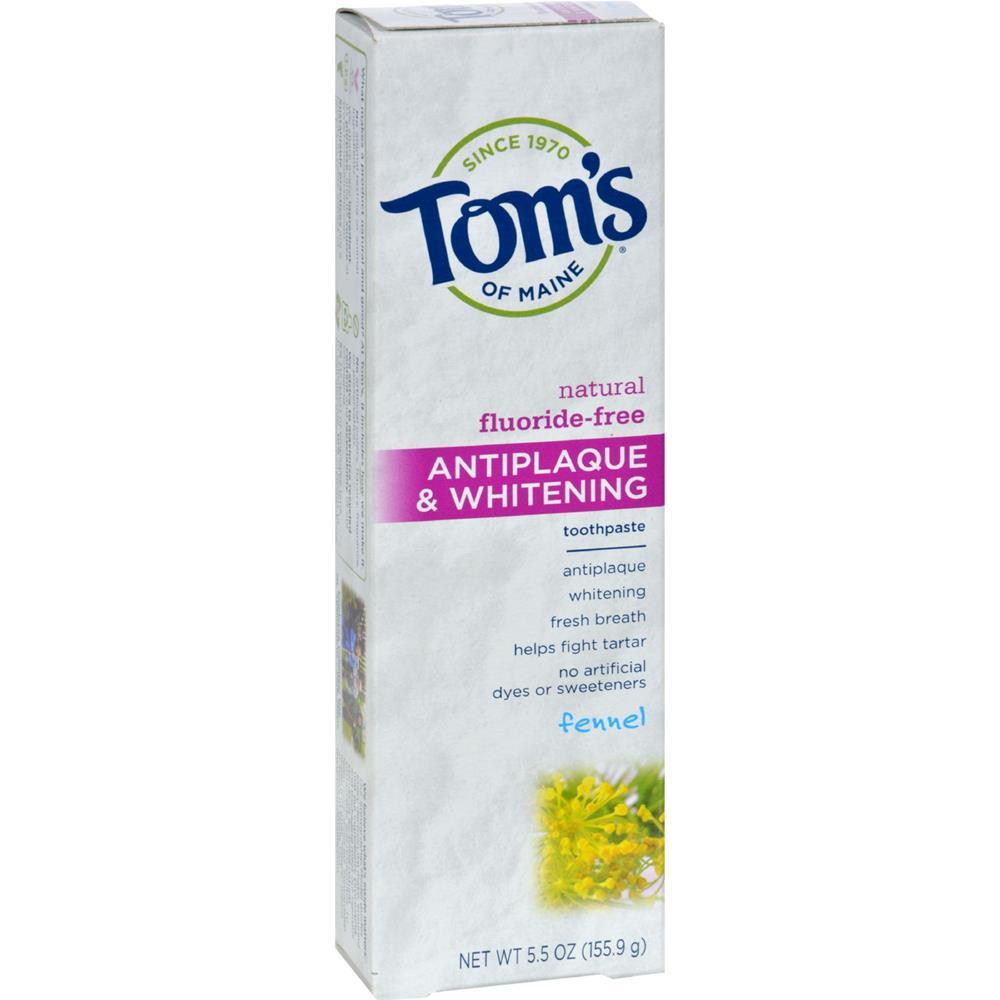 Toms Of Maine Fennel, Tartar Control Whitening Toothpaste (6x55 Oz)