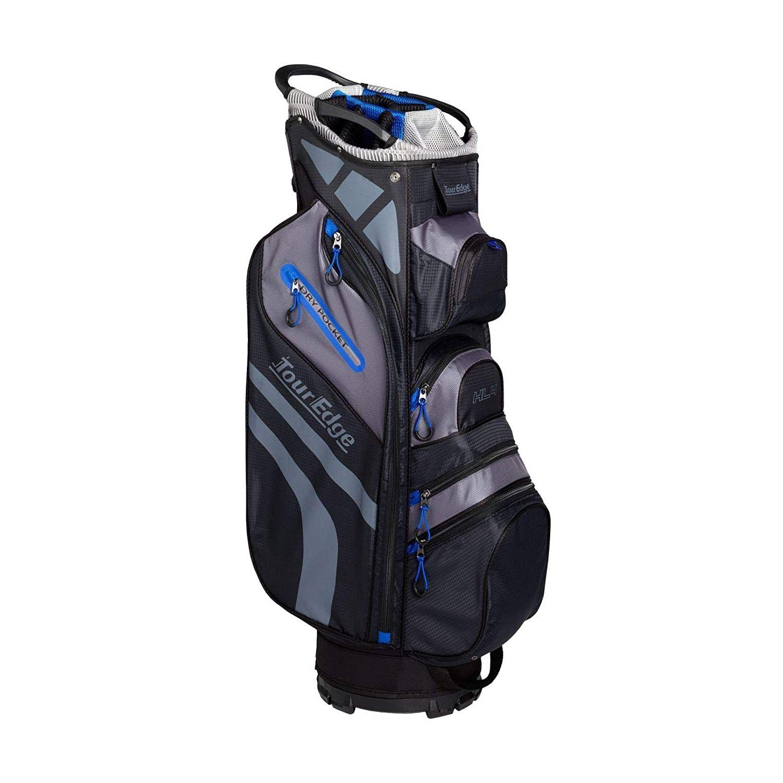 Tour Edge Hot Launch HL4 Golf Cart Bag-Black Blue Grey