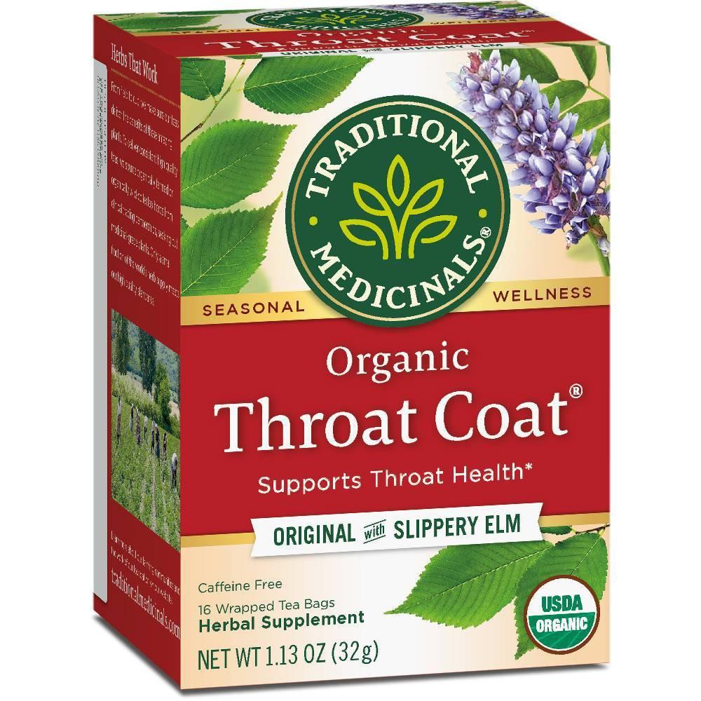 Traditional Medicinals Throat Coat Herb Tea (1x16 Bag)