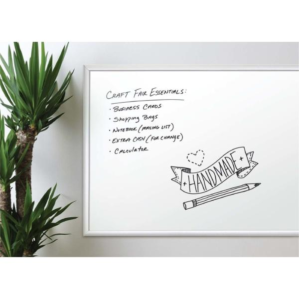 Melamine Dry Erase Board, 48 x 36, White Surface, Silver Frame