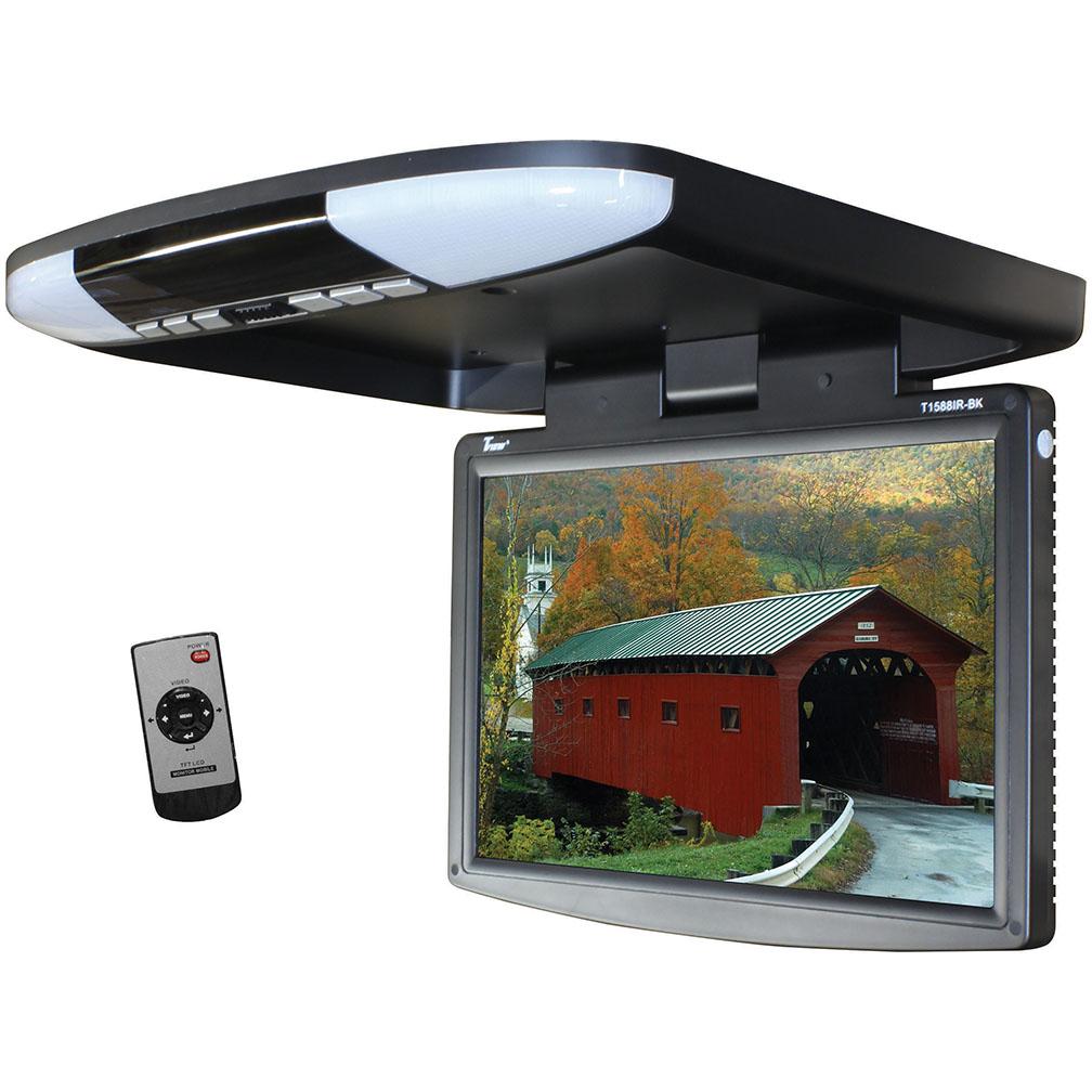 "Tview 15.4"" Wide Screen LED Flip Down Monitor (Black)"