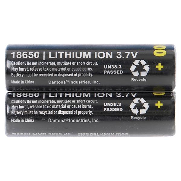 Ultralast UL1865-26-2P 2600 mAh 18650 Retail Blister-Carded Batteries (2 Pack)