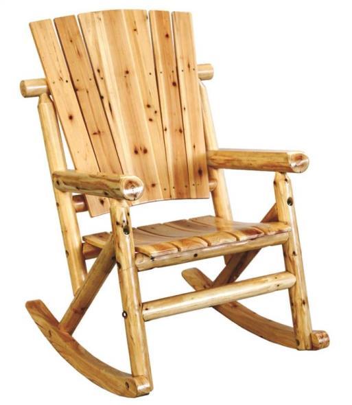 United TX 95100  Rocking Chairs, Single - Aspen Log