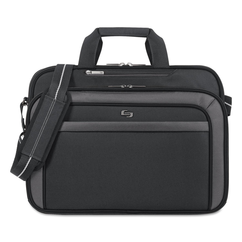 "Pro CheckFast Briefcase, 17.3"", 17"" x 5 1/2"" x 13 3/4"", Black"