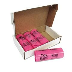 Tidy Girl Feminine Hygiene Sanitary Disposal Bags, 150/Roll, 4 Rolls/Carton