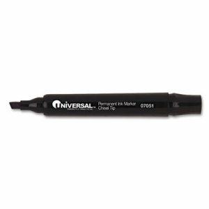 Permanent Markers, Chisel Tip, Black, Dozen