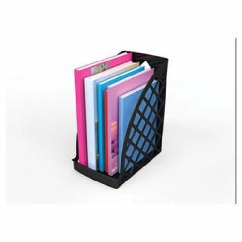 Recycled Plastic Large Magazine File, 6 1/4 x 9 1/2 x 11 3/4, Black
