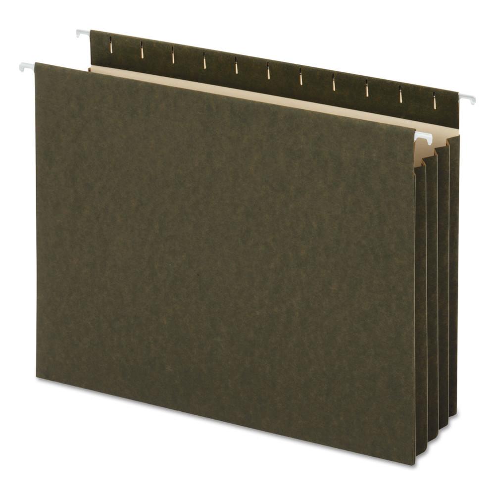 Hanging Box Bottom File Pockets, 11 Point Stock, Letter, Standard Green, 10/Box
