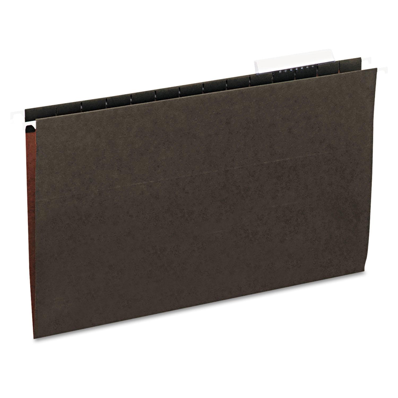 Hanging File Folders, 1/3 Tab, 11 Point Stock, Legal, Standard Green, 25/Box