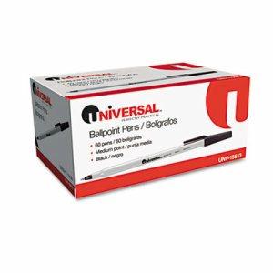 Economy Ballpoint Stick Oil-Based Pen, Black Ink, Medium, 60/Pack