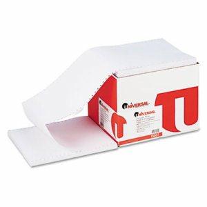 Computer Paper, 20lb, 9-1/2 x 11, Letter Trim Perforation, White, 2300 Sheets