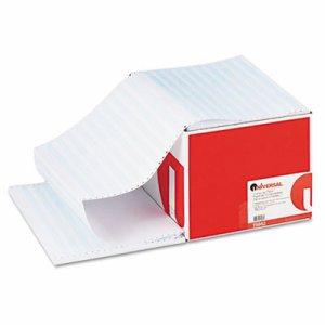 Blue Bar Computer Paper, 20lb, 14-7/8 x 11, Perforated Margins, 2400 Sheets