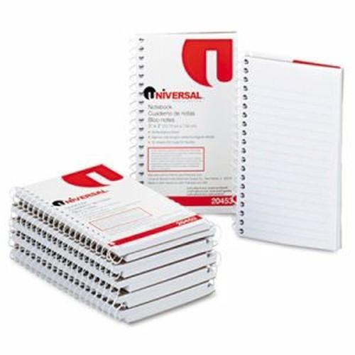 Wirebound Memo Book, Narrow Rule, 5 x 3, Orange, 12 50 Sheet Pads/Pack