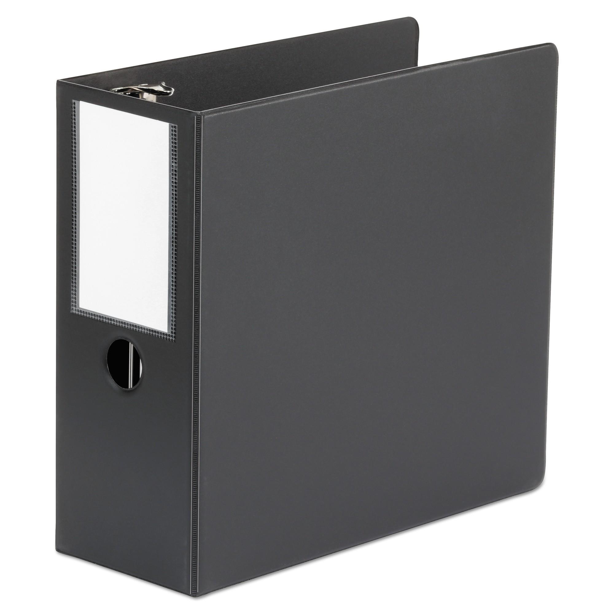 "D-Ring Binder, 5"" Capacity, 8-1/2 x 11, Black"