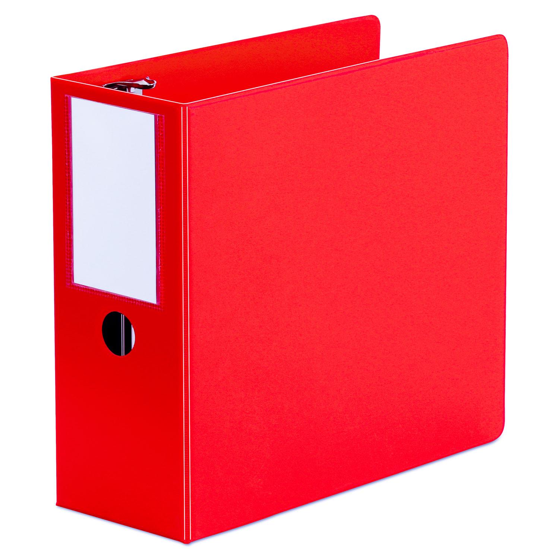 "D-Ring Binder, 5"" Capacity, 8-1/2 x 11, Red"