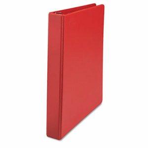 "D-Ring Binder, 1"" Capacity, 8-1/2 x 11, Red"